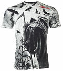 AFFLICTION Men T-Shirt CORN REAPER Tattoo Motorcycle Biker Gym MMA UFC Jeans $50