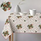 New Festive Party Xmas Holly Christmas Tablecloth - All Sizes