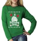Ugly Christmas Sweater Jesus Birthday Boy Xmas Holiday Women Sweatshirt Gift