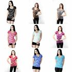 Women Sexy Short Sleeve Floral Lace Shirt Casual Blouse Tops T-Shirt