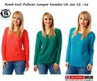 LADIES SIZE XL 14-16 COLOUR ROMB KNIT JUMPER CHUNKY CABLE SWEATER TOP BLOUSE VTG