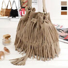 Women Ladies Fashion Fringe Tassel Shoulder Bag Crossbody Bag Messenger Handbag