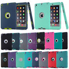Soft Silicone Hybrid Shockproof Heavy Duty Hard Case Cover For Apple iPad Series