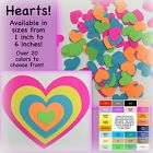 Heart confetti, paper hearts, card stock heart, many color choices