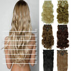 long 8 piece clip in hair extensons Curly Bleach Blonde brown black full head