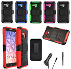 For Alcatel OneTouch Fierce XL Armor Holster Clip Stand Case CAR CHARGER STYLUS