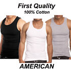Lot 3 Or 6 Packs Mens 100% Cotton Tank Top A-Shirt Wife Beater Undershirt Ribbed