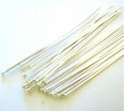 "3"" 24 gauge solid 925 bright sterling silver flat cupped head pin Headpin F04"