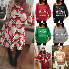 Women Girls Kid Christmas Jumpers 3D Xmas Santa Snowman Elf Reindeer Sweater Top