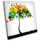 Colourful Nature Trees  Abstract SINGLE CANVAS WALL ART Picture Print VA