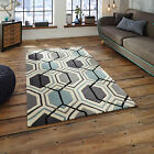SMALL MEDIUM LARGE BLUE GREY 1-2 CM THICK HONG KONG ACRYLIC HIGH QUALITY RUGS