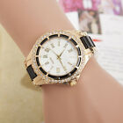 Women Fashion Stainless Steel Dial Band Analog Quartz Crystle Casual Wrist Watch