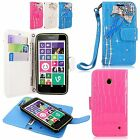 Nokia Lumia 630 635 PU Leather Magnetic Diamond Wallet Bow Glitter Bling Case