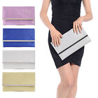 GLITTER SHIMMER SPARKLY WEDDING BAG LADIES PARTY PROM EVENING CLUTCH HAND BAG