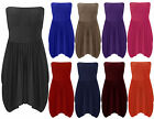 Ladies Strapless Gathered Long Top Womens Boob Tube Drape Dress Plus Size 16-24
