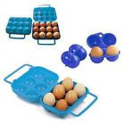 Hot 2/6/12 Eggs Carry Container Holder Storage Case Folding Portable Plastic Box
