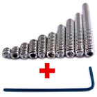 8-32 Set Screws 10 PICK SIZE Stainless Steel Socket Cap Retaining Grub Cup Point