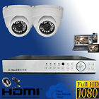 4 CHANNEL DVR AHD 2X FULL HD DOME CCTV SECURITY1080P 2MP SURVEILLANCE SYSTEM KIT