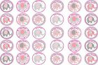 30 x Girl Baby Shower Pink Elephant Design Edible Wafer / Icing Cup Cake Topper