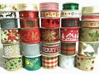 LARGE SELECTION WIDE CHRISTMAS RIBBONS HESSIAN CHRISTMAS RIBBON - 1 0R 3 METRES