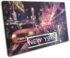 New York Typography DJ Club SINGLE CANVAS WALL ART Picture Print