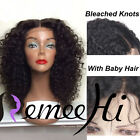 Queen Brazilian Kinky Curly 100% Human Remy Hair Lace Front WIG BABY HAIR