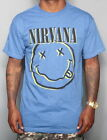 BRAND NEW STONE FACED HEATHER BLUE NIRVANA T-SHIRT