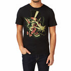 IRON FIST WOLF HEAD SHORT-SLEEVE BLACK T-SHIRT / TEE / TOP  BLACK (R11B)