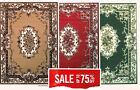 5x7 Area Rug Traditional  Oriental  Persian  Medallion Design Aubusson (70% OFF)