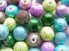 Clearance! Acrylic Beads Stardust Round Beads Various Colours