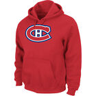 Men's Montreal Canadiens Hooded Fleece Long Sleeve Athletic Red Pullover