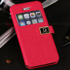 LUXURY PU Leather SLIM WALLET flip case cover for Apple iPhone 5 5S US Fast Ship