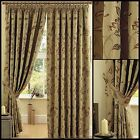 Morby Lined Curtains Floral Embroidered Vintage Ready Made Pair Pencil Pleat