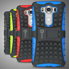 For LG V10 Case Hard & Soft Protective Kickstand Dual Layer Slim Phone Cover