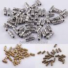 Lots 50 pcs Tibetan Silver Column Tube Spacer Beads Jewelry Making Findings 8mm