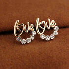Fashion 1 Pair  Women Lady Elegant Crystal Rhinestone Ear Stud Earrings HOT