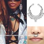 Stainless Steel Fake Septum Cliker Hoop Nose Ring Nipple Clip on Non Piercing