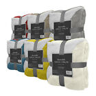"""Reversible Sherpa Throw Blanket 50"""" x 60"""" Color Warm Soft Plush Fleece Bed Couch"""