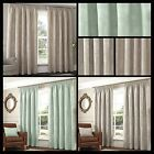 Sanders Lined Curtains Floral Flowers Motif Pastel Ready Made Pair Pencil Pleat