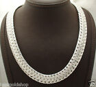 "Bold Heavy Byzantine Chain Necklace Real Sterling Silver QVC 18"" 20""  75gr"