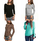 Sexy Backless Summer Fashion Women Casual Long Sleeve Lace Blouse T Shirt Tops F