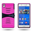 For Sony Xperia Z3 - Rugged  Hybrid With Kickstand Rugged  Hard Armor Cover Case