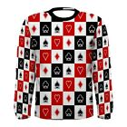 New Card Poker sublimated Men's Long Sleeve T-shirt Size S M L XL 2XL 3XL