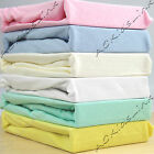 New Cot Bed Bedding 100% Cotton Jersey Sheet Cot Bed Fitted Sheets 6 COLOURS