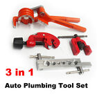 Auto Plumbing Tool Kit Copper Pipe Cutter, 180° Tube Bender, Flaring Expander