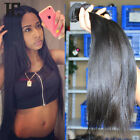 4 Bundles Brazilian Virgin Straight Human Hair Extensions 200g #1b UK Delivery
