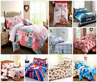 Printed Duvet Cover Set Quilt Cover Poly Cotton Rich with Pillowcases All Sizes