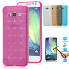 Shockproof Silicone TPU Case Cover & Tempered Glass Protector For Samsung iPhone