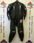 RST R-16 Leather Motorcycle Two Piece Jacket and Trousers Suit Blue NEW 2016