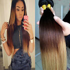 3 Bundles BRAZILIAN Ombre Straight Remy human hair Extensions 150g UK STOCK